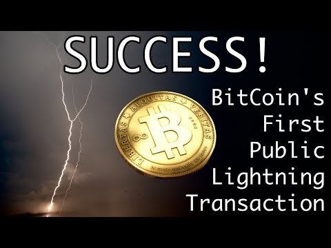 Bitcoin's First Lightning Payment Successful
