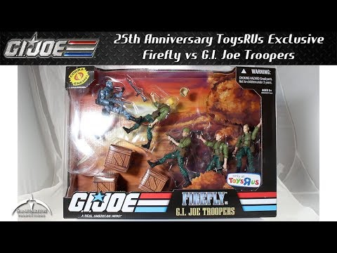 GI Joe 25th Anniversary Toys 'R Us Exclusive Firefly Vs G.I. Joe Troopers Unboxing And Review