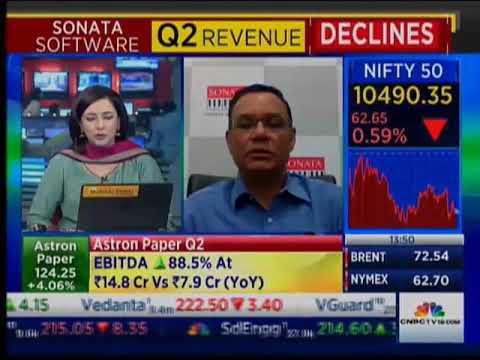 Sonata Software CFO, Prasanna Oke interviewed by CNBC TV 18