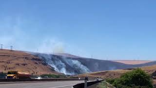Substation fire burns west of the Deschutes River, near the Columbia