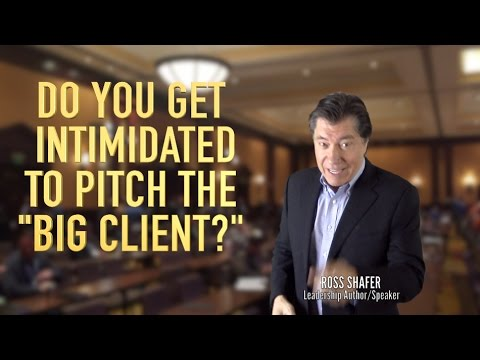 HOW TO OVERCOME INTIMIDATION   Ross Shafer   Leadership Keynote Speaker/Author