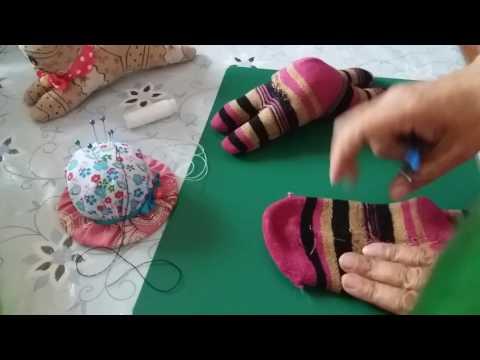 Как сшить носочки для кукол из носка/мастер-класс/своими руками