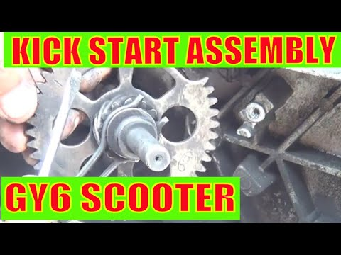 moped kick starter schematic gy6 150cc scooter kick start assembly youtube  gy6 150cc scooter kick start assembly