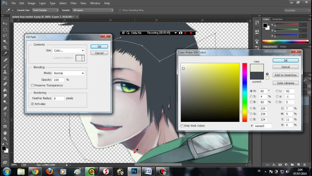 Flat Character Design Tutorial : Tutorial photoshop flat design anime character youtube