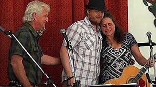 Jake Rucker, Robby Rucker and Janet Rucker at Shake Rag, Melrose, FL 3-32011