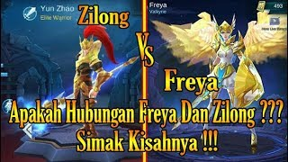 kisah nyata freya dan zilong di mobile legends story of freya and zilong