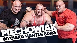 Hardkorowy trening w Burneika Sports GYM  Piotrek Piechowiak wyciska HANTLE 80 KG!