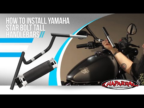 How to install Yamaha Star Bolt Tall Handlebars, Extended Throttle/Clutch/Brake Lines, and Grips