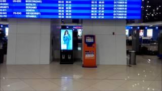 Киоск в Национальном Аэропорту Минск 2(Рекламный интерактивный сенсорный киоск компании