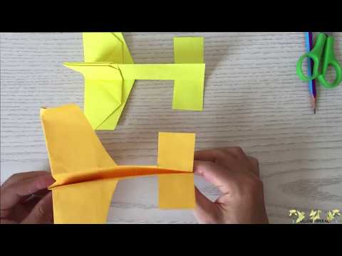 Yellow Paper Art - Best Origami Paper Airplane - How to Make Paper Flies Airplane (DIY)