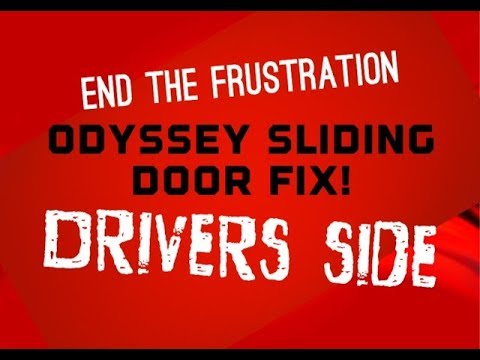 Honda Odyssey Driver Side Sliding Door Wont Open 74380 S0z A01