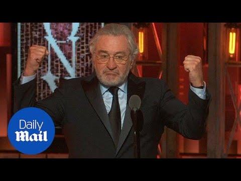 'F*** Trump!': Robert DeNiro denounces Trump at Tony Awards  Daily Mail
