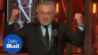 'F*** Trump!': Robert DeNiro denounces Trump at Tony Awards