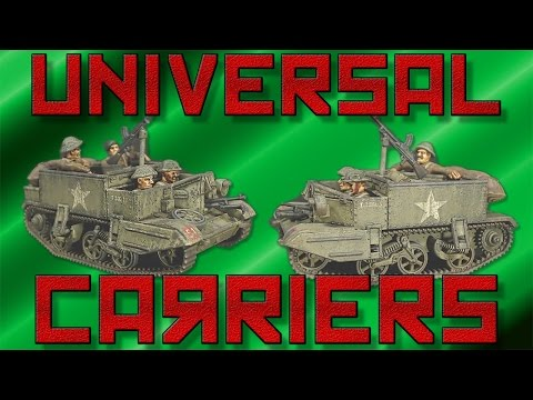 Painting Bolt Action Universal Carriers [28mm]