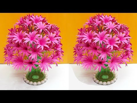 DIY-Guldasta made with paper flower and plastic bottle| DIY paper Flower Guldasta
