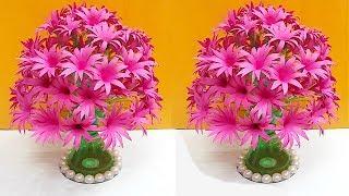 DIY-Guldasta made with paper flower and plastic bottle  DIY paper Flower Guldasta