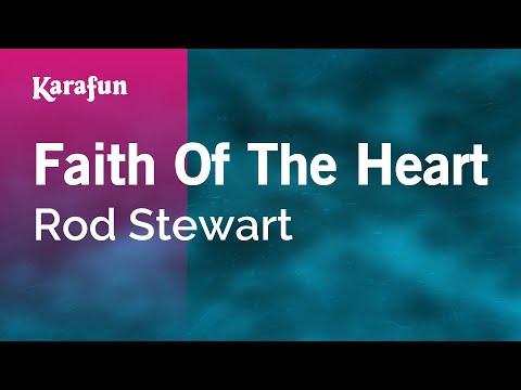 Karaoke Faith Of The Heart - Rod Stewart *