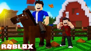 A HORSE POOPED ON MY BROTHER AT ROBLOX!!!