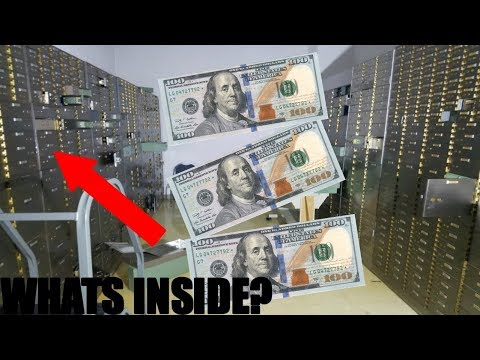 (FOUND HUNDREDS) GOT INTO CLOSED BANK VAULT! Abandoned Bank With Safes Full Of Money!