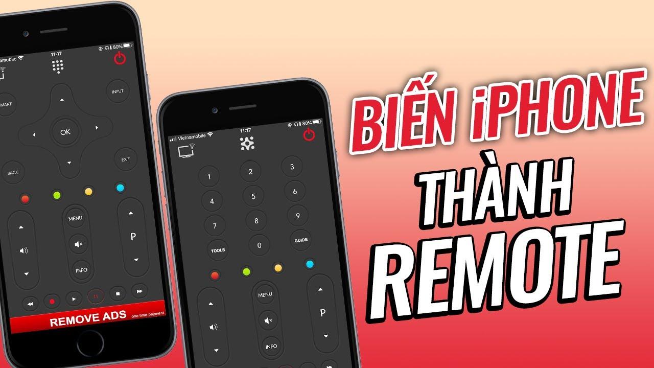 Mời anh em thử dùng iPhone làm REMOTE điều khiển TV cực ngon – Turn Your iPhone Into A Remote
