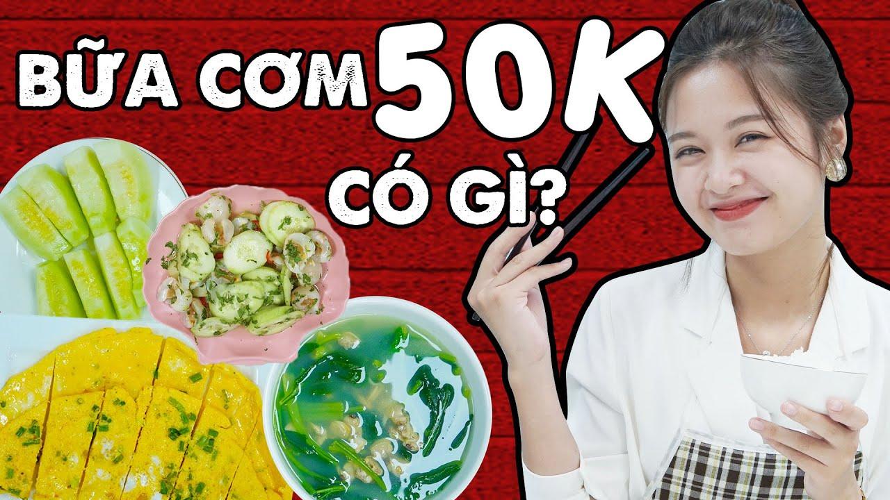 Bật Mí Bữa Cơm 50K Nhưng Cực Đủ Chất Cho Ngày Bận Rộn | #Shorts