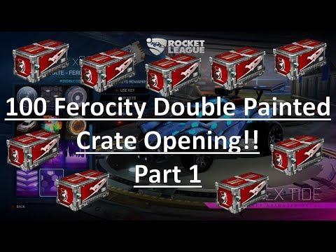 100 Ferocity Crate Double Painted Opening - Part 1 (Rocket League) thumbnail