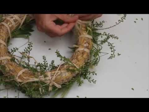 Как сделать венок из сена