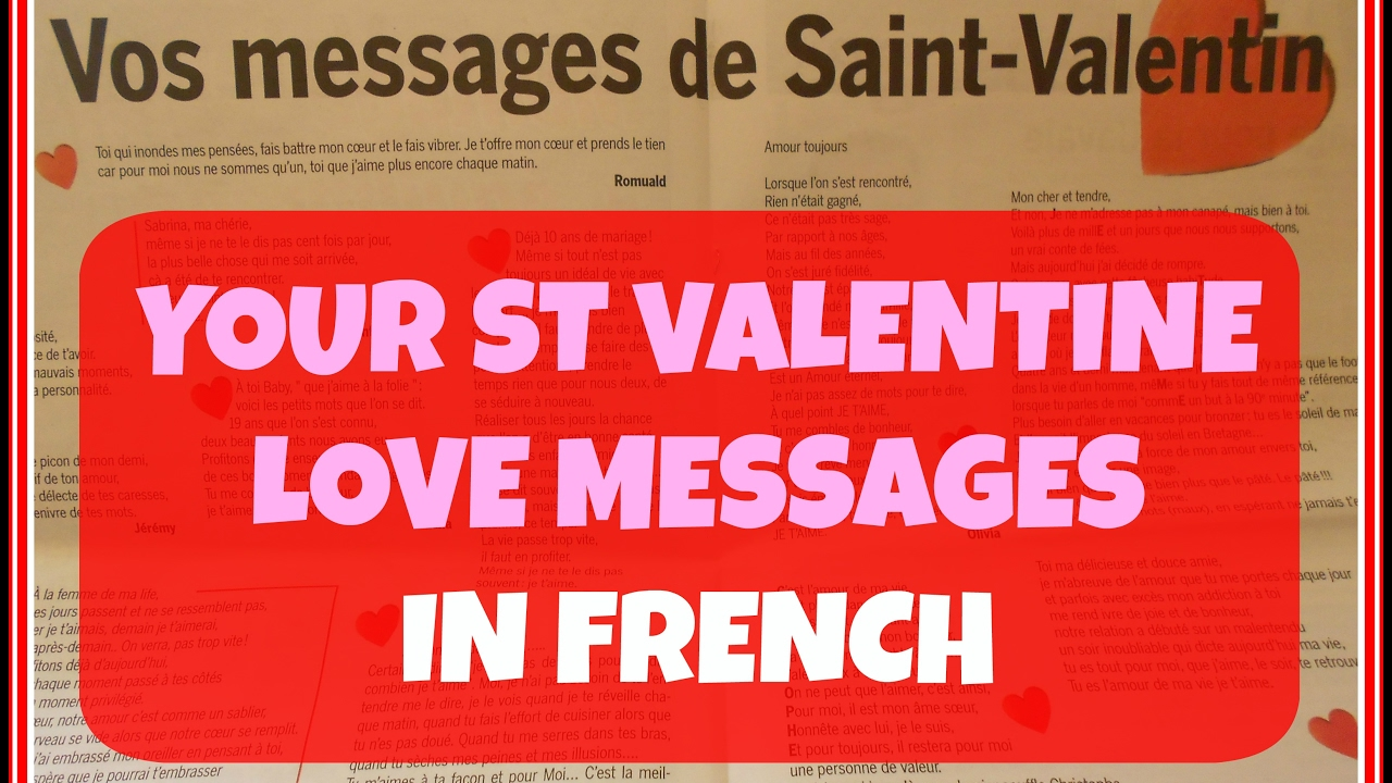 4 French Love Messages For St Valentine
