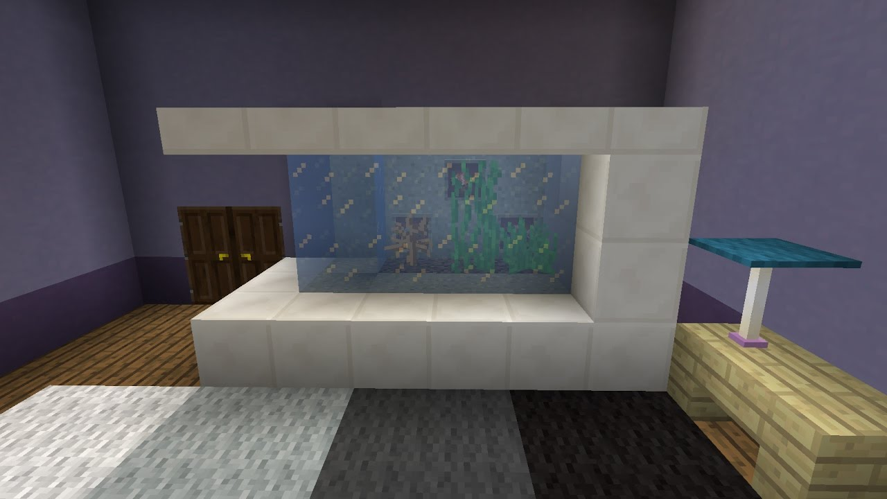 comment faire un grand aquarium minecraft youtube. Black Bedroom Furniture Sets. Home Design Ideas