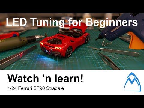 1/24 Diecast Ferrari SF90 Stradale – Watch 'n learn! – DIY LED tuning @Ferrari