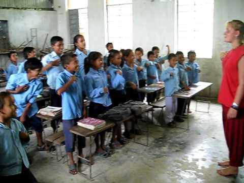 Kantipur school, Madi, Chitwan, Nepal.AVI