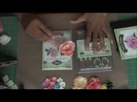 Susan 39 S Garden Flower Making Kits By Sizzix Youtube