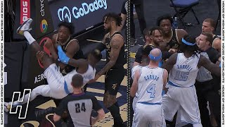 OG Anunoby, Montrezl Harrell EJECTED after WILD SCUFFLE - Lakers vs Raptors | April 6, 2021