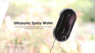 Hobot 388 Window Cleaning Robot Ultrasonic Water Spray Youtube