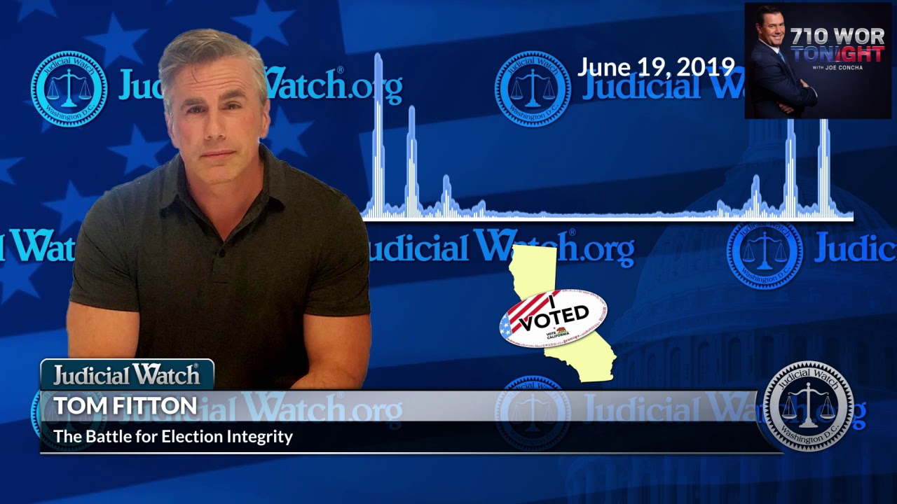 Judicial Watch Fitton: Settlement to Clean Dirty Voter Rolls in L.A. County a MASSIVE STEP for Elect