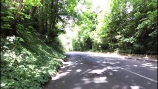Cycling up  Gravel Hill on a Giant Defy Advanced Pr