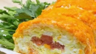 вкусные рецепты блюд салат Царский стандарт с красной рыбой пошаговая инструкция