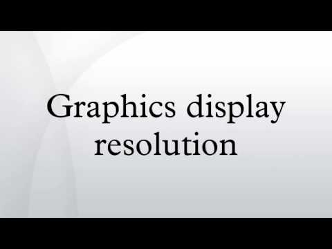 Graphics display resolution