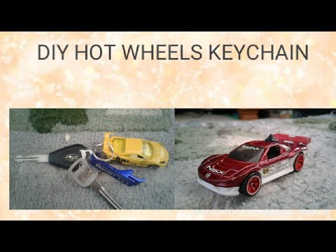DIY HOW TO MAKE HOT WHEELS KEYCHAINS