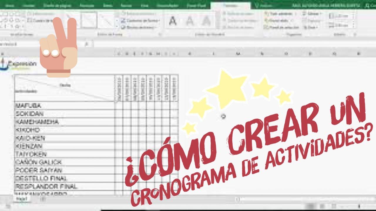 ▶️ Crea un CRONOGRAMA DE ACTIVIDADES 📔 con DIAGRAMA DE GANTT 🕰 en Excel FÁCIL Y RÁPIDO
