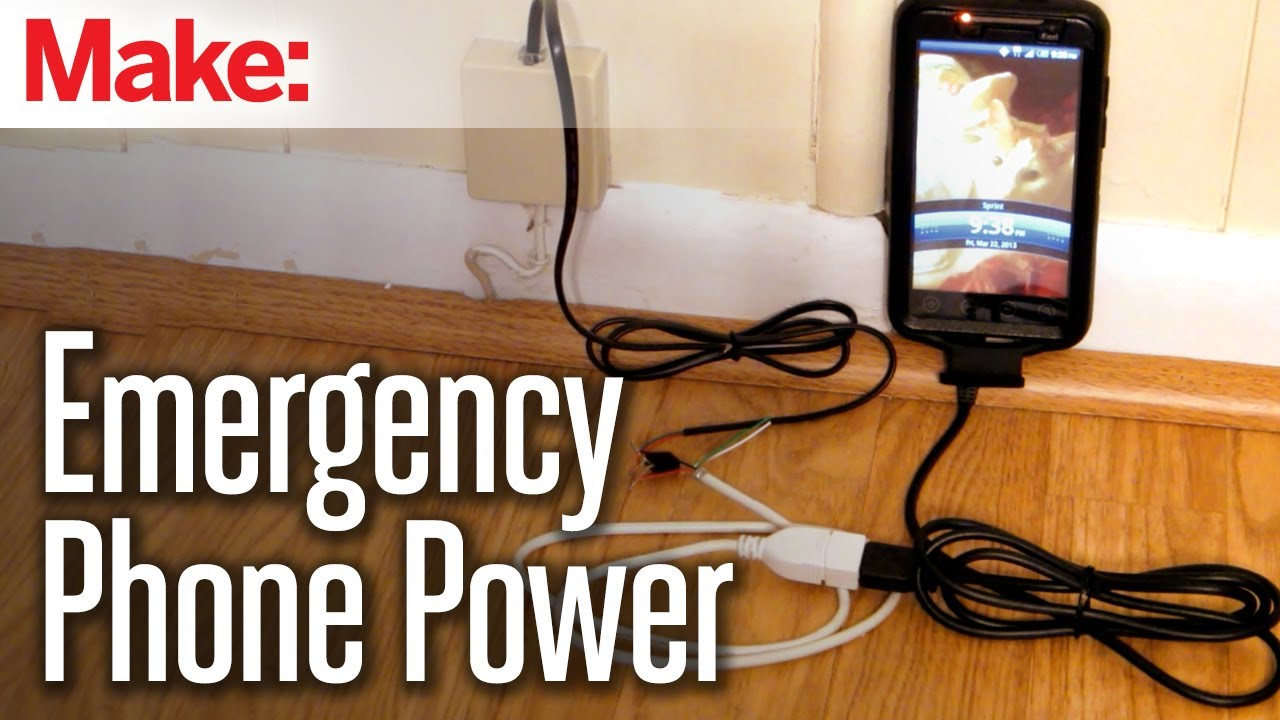 Diy Hacks How Tos Emergency Power From A Land Line Youtube Over Ethernet Supply Of Devices Data Cable Hw
