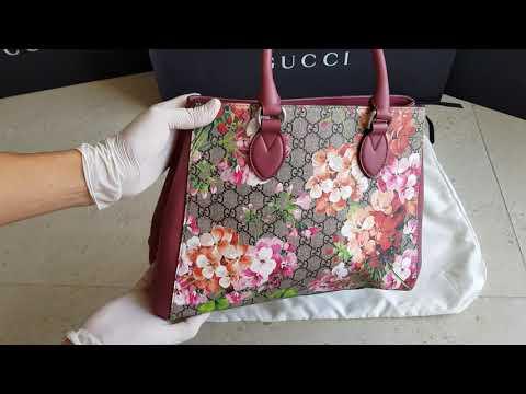 Gucci Handbag, Purse - GG Blooms Top Handle Bag 453704 - Unboxing - Haul - Whats Inside - Non Fake