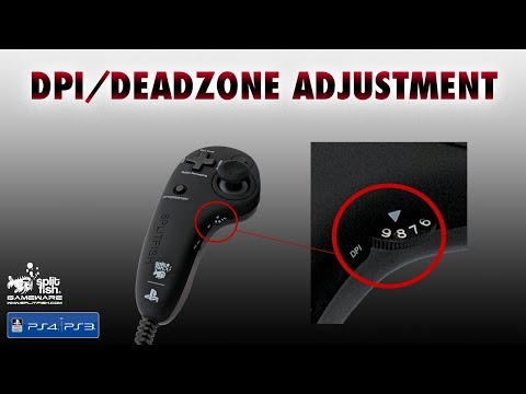 Adjust The DPI/Deadzone Settings On The FragFx Piranha PS4