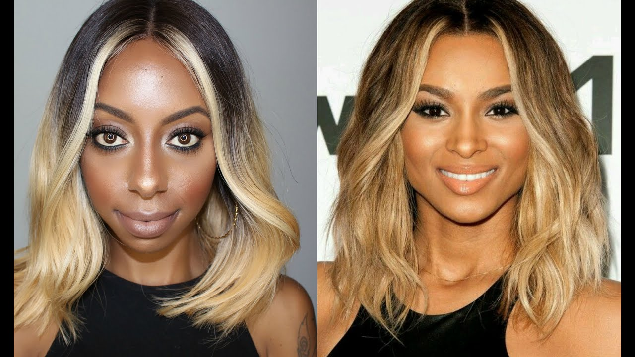 Ciara Ombre Honey Blonde Medium Bob Lace Wig