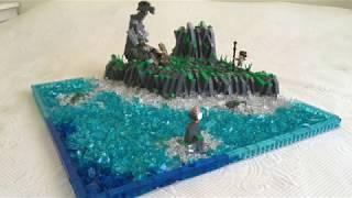 LEGO STAR WARS AHCH-TO MOC / WEIRDEST LAST JEDI SCENE