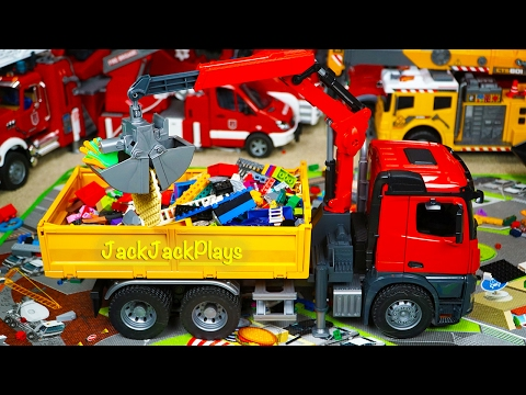 Bruder Construction Truck with Crane Surprise Toy Unboxing - Kid Playing with Toys