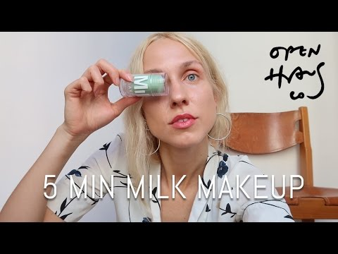 Milk Makeup 5 Min Look | Matcha Cleanser & Toner, Highlighter, Sunshine Tint etc.