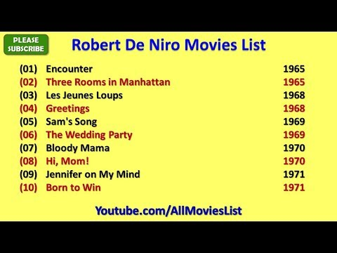 Robert De Niro Movies List