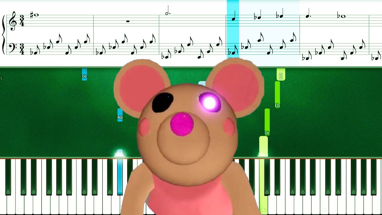 Piggy ROBLOX - Mousy Theme (Piano Tutorial Sheets) (Sad Version)