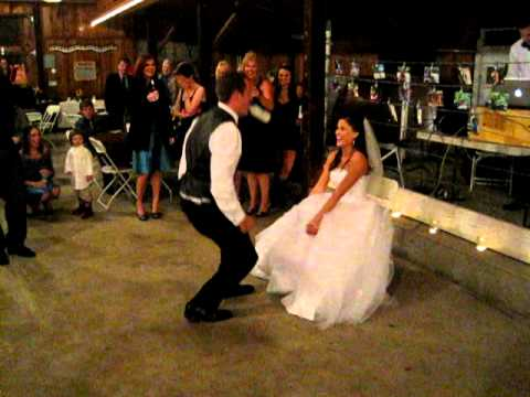 Groom Gets Iced During Garter Toss At Wedding Youtube